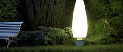 iluminación de exterior y jardin