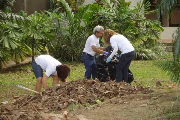 limpieza en parques y jardines