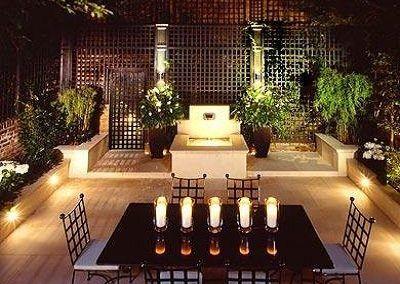 Iluminacion de jardines en Madrid
